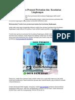 Vendor Kaos Promosi Pertanian dan  Kesahatan Lingkungan.pdf