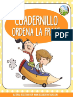 Cuadernillo Ordena La Frase