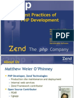 php development best practices