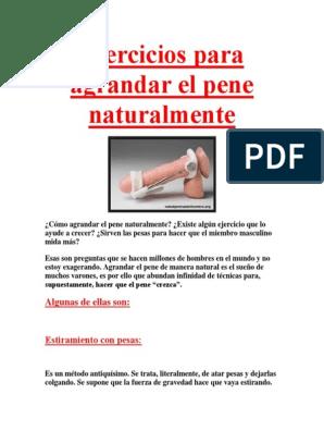 Metodos para crecer el pene de forma natural