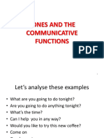 Tones and the Communicative Functions