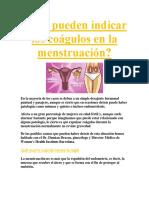 Qué Pueden Indicar Los Coágulos en La Menstruación