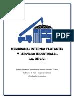 Membranas Internas Flotantes y Servicios Industriales, Jun2018