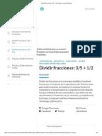 Dividir fracciones_ 3_5 ÷ 1_2