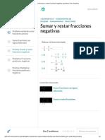 ...(10) Sumar y Restar Fracciones Negativas (Practica) _ Khan Academy