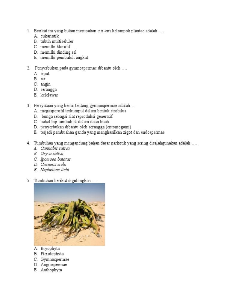 Soal Us X Mia Biologi Doc