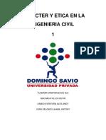 Caracter y Etica en La Ing. Civil