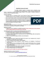 2018 SEAOHUN Scholarship Detail