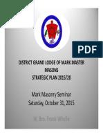 Masonic Lodge Strategic Plan