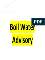 Boil Water Sign