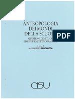 antropologia mondo scuola F. DEI