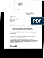 (Industry Canada, Sept. 27, 2010) Release of Docs Re Long-Form Census From Canadians_A-2010-190