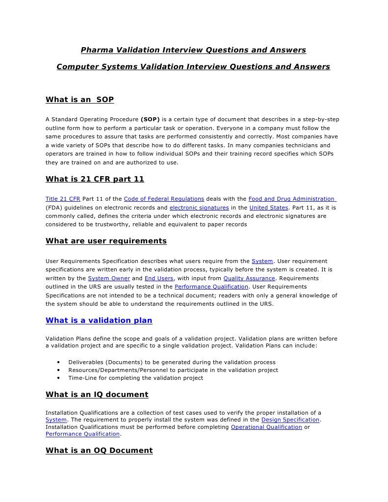 Computer Systems Validation Faqs Verification And Validation Technology Essai Gratuit De 30 Jours Scribd