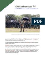 Bobo.grid.Id - Mengenal Warna Baret Para TNI