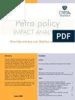 Petro policy Impact analysis7Jun08