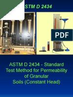ASTM D 2434(Contant Head Method)