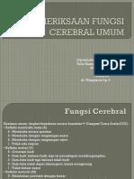 Pemeriksaan Fungsi Cerebral Umum