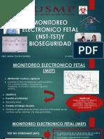 Monitoreo Electronico Fetal (Nst-ost)y Bioseguridad