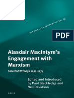 Alasdair MacIntyre's Engagement With Marxism_ Selected Writings 1953-1974 (Historical Materialism Book Series) (2008, Brill Acad