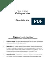 Palimpsestos Fichas de Lectura