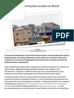 Transformações Sociais No Brasil - Unesco