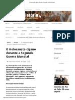 O Holocausto Cigano Durante a Segunda Guerra Mundial