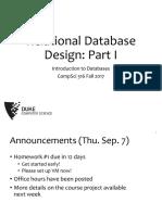 0763 Databases Relational Database Design