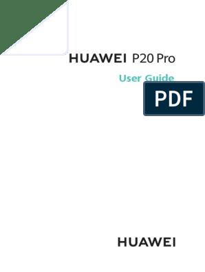 HUAWEI P20 Pro User Guide (CLT-L09&CLT-L29, 01, UK) pdf