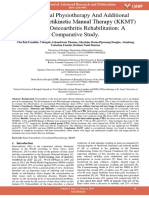 Conventional Physiotherapy and Additional Krishnas Kinetikinetic Manual Therapy Kkmt for Knee Osteoarthritis Rehabilitation a Comparative Study