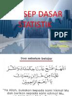 Pertemuan I (Konsep Dasar Statistik)
