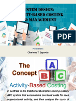 Chapter 11 System Design-ABC Costing and Management
