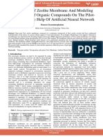Preparation of Zeolite Membrane and Modeling Dehydration of Organic Compounds on the Pilot Scale With the Help of Artificial Neural Network