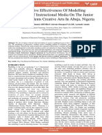 Comparative Effectiveness of Modelling Technology of Instructional Media on the Junior Secondary Students Creative Arts in Abuja Nigeria