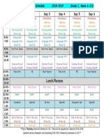 finch daily schedule 2018-2019 comic sans font updated