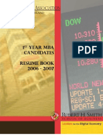 UofMaryland Smith Finance Assoc Resume Book(1Y)