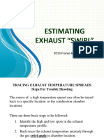 Estimated exhaust Gas turbine swirl