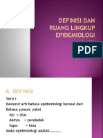 Definisi Dan Ruang Lingkup Epidemiologi