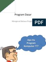 BAB II Bahasa Program Dasar