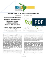 Enforcement of water services payment for Mexican water utilities