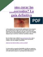 Como Curar Las Hemorroides PDF GRATIS.