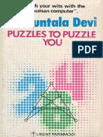 Shakuntla Devi Puzzles