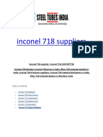 Inconel 718 Suppliers