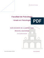 Guia Docente 319162102 - Memoria y Aprendizaje - Curso 1314 ULL