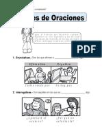 Ficha Tipos de Oraciones Para Cuarto de Primaria