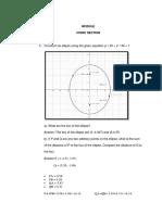 Module Question Conic Section