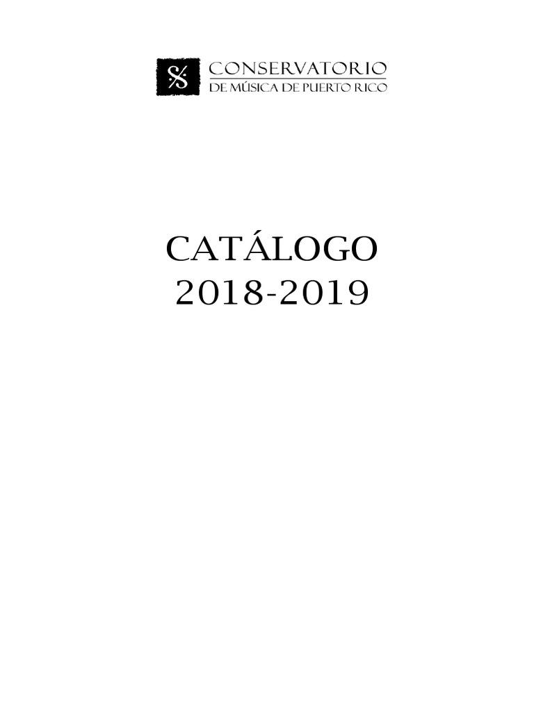 Catálogo Institucional 2018-2019