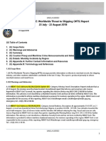 U. S. Navy Office of Naval Intelligence Worldwide Threat to Shipping (WTS) Report 23 July - 22 August 2018