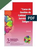 Curso de Gestion de Calidad Para Servicios de Sangre Anexos PAHO