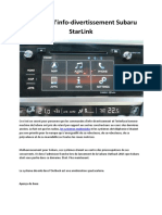 Système d'Info-divertissement Subaru StarLink
