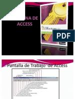 Pantalla de Trabajo de Access
